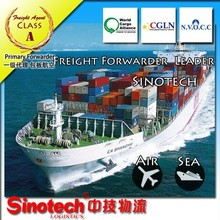 Sea freight rates from China to USA and worldwide
