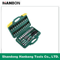 46pcs mechanic hand tools set socket set, auto repair hand tool
