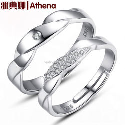 925 925 Silver female Korean couple rings on the ring opening silver one pair of free lettering male factory wholesale