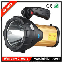 3 switch mode rechargeable CREE T6 10W LED 5JG-A390E Outdoor portable searching and Camping lights with AC/DC charger