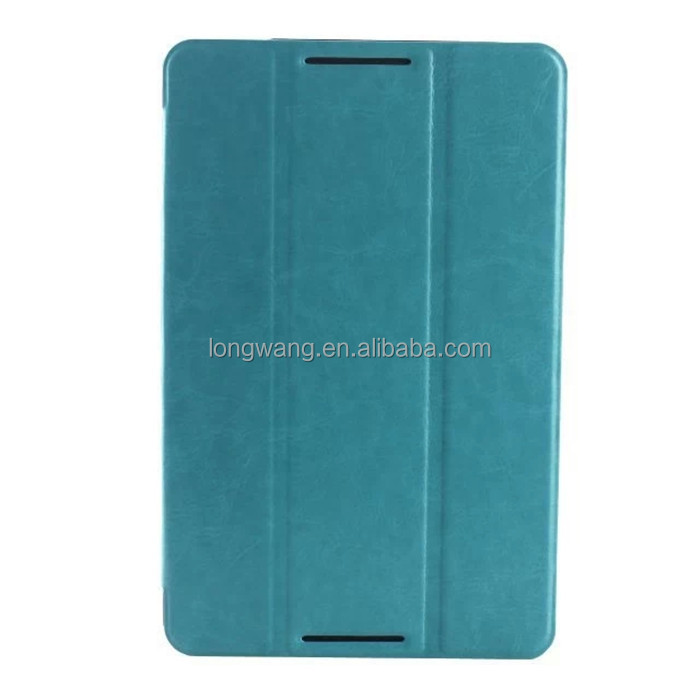 "Stand 3 folding case with magnet Crazy Horse Pattern PU Leather cover for Lenovo A5500 a8-50 8"" tablet"