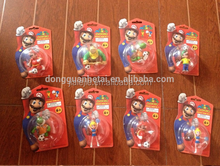 New Arrival Nintendo Super Mario Keychain Figure with football/ Nintendo Super Mario Keychain Figure with football