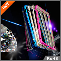 Jules.V Luxury Crystal Metal Bumper Smart Phone Case For iPhone