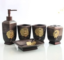 The Golden Series Luxury Bathroom Set accessories for home decoration