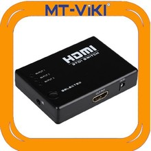 MT-SW301S 3 port in 1 port out HDMI1.3 switch 1080p non-power black plastic HDMI switch factory direct sale HDMI switch