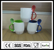 sublimation coffee mug with spoon