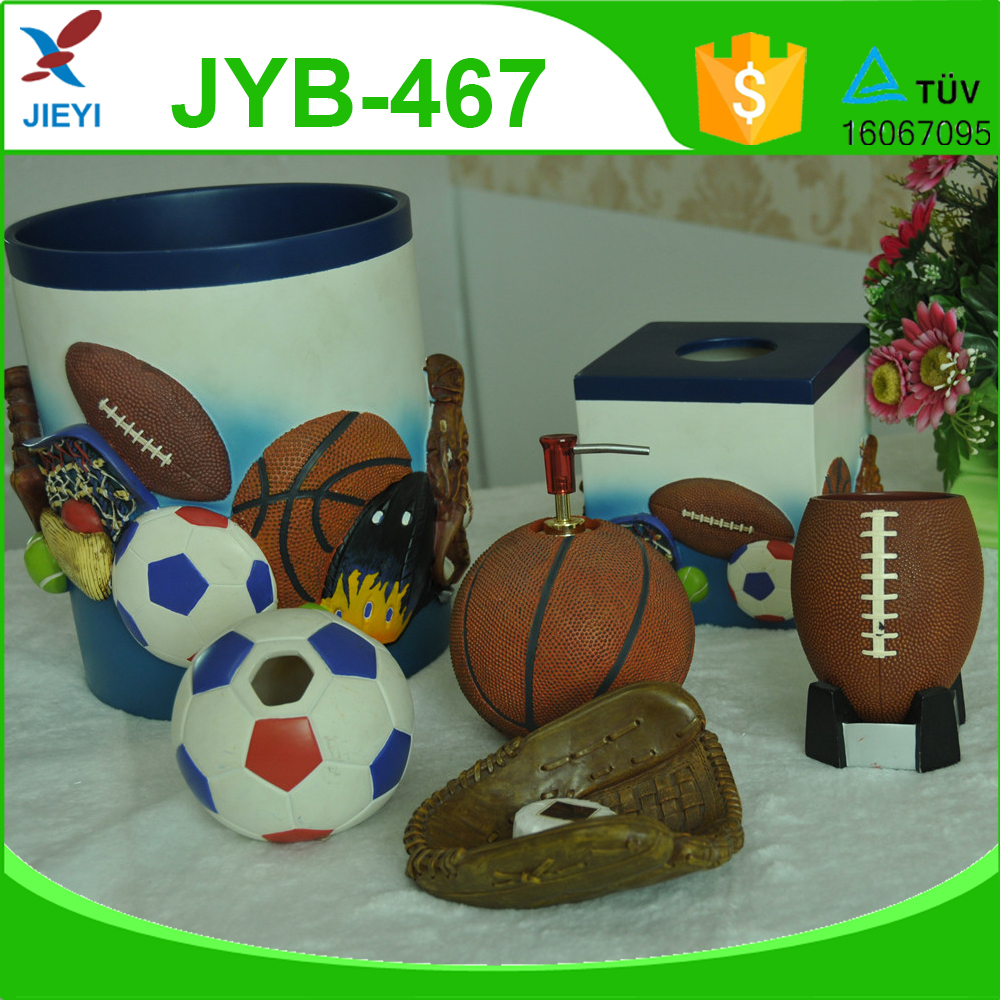 Sports themed bathroom accessories
