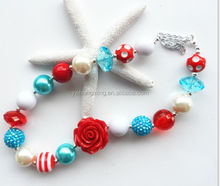 Wholesale large chunky bead necklace low price!2013 Latest chunky bubble gum necklace for girls' best present!
