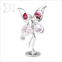 Specialized Creative Gold Plated Crystals Fairy Figurine
