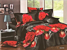 cheap factory supply wholesale price luxury wedding king size 3d flower jacquard floral printed ethnic bedding set
