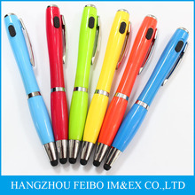 Multi-functional plastic led ball pen with touch BP-8516Di