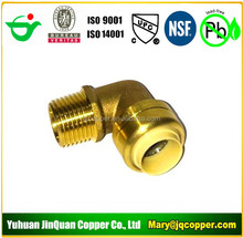 9 cUPC NSF approved Lead Free Brass Push Fit Male Elbow