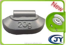 auto parts Pb clip on wheel weights for steel wheels