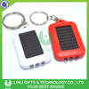 Promotional real panel led solar light key chain
