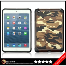 Keno Hot Selling Camouflage Heavy Duty Hybrid Case for iPad Mini Retina