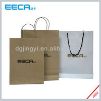 Hot sale eco kraft paper shopping bag/cheap paper bag printing