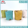 2015 new design colorful small ceramic planter