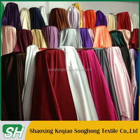 China keqiao supplier blue satin dress for garment lining