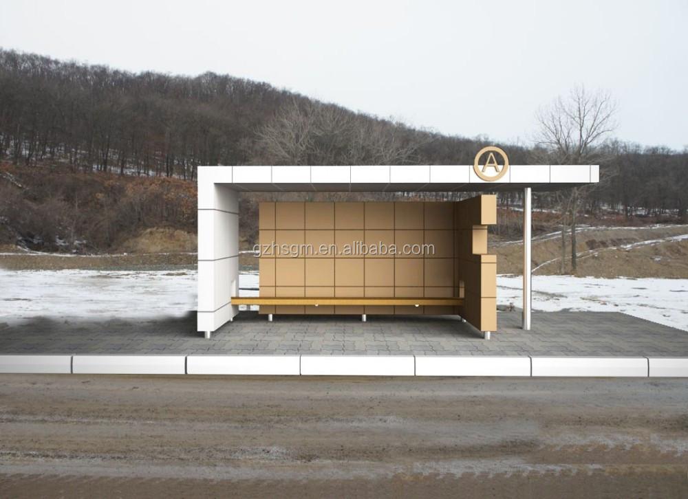 고품질의 금속 버스 정류장 쉼터 좋은 디자인 대한 벤치 대기 ...