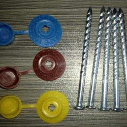 100*5.0mm Umbrella Head Roofing Nails With Rubber Washer