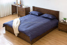 New discount wooden bed with hand carving headboard