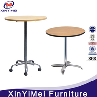 Strong and durable bar table with wheels