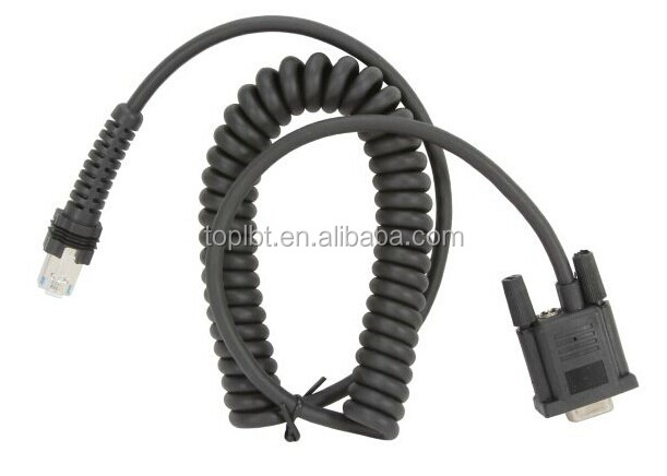 Rs232 Coiled Serial Cable For Datalogic Cab 434 Buy Rs232 Coiled Serial Cable For Datalogic