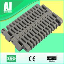 Plastic raised rib modular conveyor belt for meat