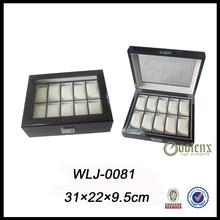 watch storage! 10 compartments wooden luxury watch box