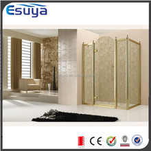 Alibaba Shanghai SUYA newest design rotating hinged shower door glass shower enclosure with luxury style