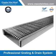 Stainless steel linear trench drain