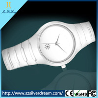 Geneva Watch 50ATM Stainless Steel Resistant Japan Movt Quartz Ceramic Watch Crown