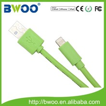 beautiful color best quality 1phone 5/5s6/6plus usb data and charge cable with MFI,made for ios