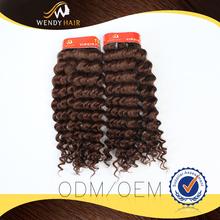 China top cabelo da onda profunda cor vermelha cabelo peruano
