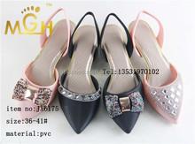 fashionable pvc high heel ladies elegant pvc sandals