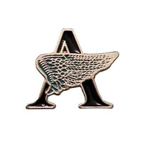 High quality unique metal Winged Letter A lapel badges pin