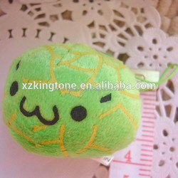 Various fruit shape plush toys/pumpkin shape stuffed toys with cute face