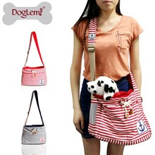 1:Fashion Stripe Pet Dog Cat Puppy Carrier Travel Tote Shoulder Bag