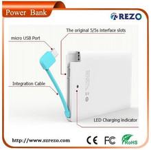 R3001 Replaceable li-thium battery 2000mAh round power bank