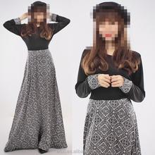 OEM service China factory custom made Wholesale arabic slim abaya dress for fat women