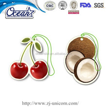 Novelty paper car air fresheners/best room hanging air freshener/natural paper air freshener