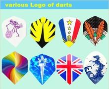 Colorful Custom PVC Dart Flights For Dart Player