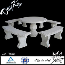 Hot sale stone round white table