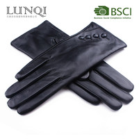 2015 new fashion touchscreen sheepskin leather gloves-women