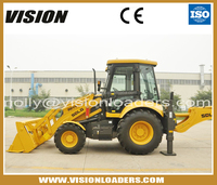 Mini tractor wheel loader for sale , with reinforced excavating boom