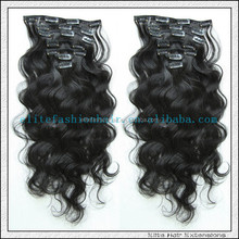 """100% remy clip in hair extension 22"""" curly clip in hair weave 100g"""