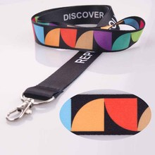 Good quality polyester cheap mobile phone lanyard with sample free