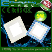 Double color ce led downlight 7w glass housing led round panel light