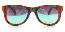 Custom case colourful wood frame wayfarers polarized sunglasses