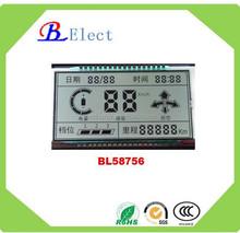 RoHS silk print motormeter lcd display Electric car dashboard lcd panel